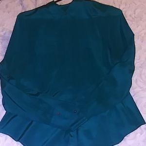 Positively Green Silk Blouse